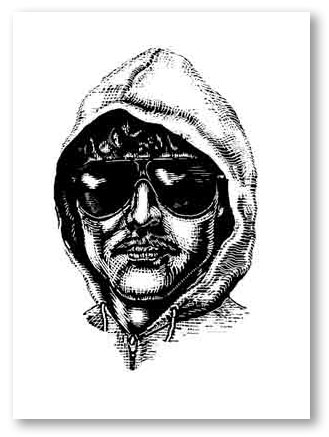 Andrew Dodds, Unabomber as digital woodcut