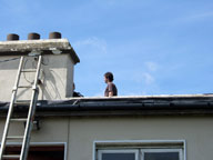 installing a radio transmitter on roof for Ask FM